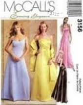 Mccall's Evening Dresses 3156 Size (14-16-18) - $9.75