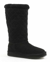 MICHAEL MICHAEL KORS  Sandy Quilted-Suede Black Boots Size 10 - $124.99