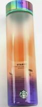 Starbucks 2020 Summer Ombre Glass Water Bottle 18oz Brand New - $23.66