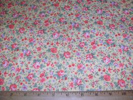 Concord Quilter's Print Quilt Fabric Wildrose Floral Red Orange Blue Yel... - $6.99