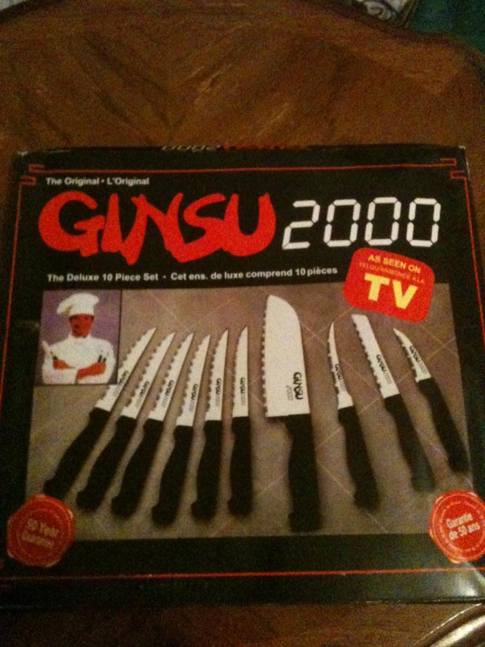 ORIGINAL GINSU 2000 AS SEEN ON TV DELUXE 10 PIECE KNIFE SET