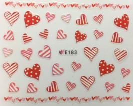 BANG STORE Nail Art 3D Decal Stickers Hearts Stripes & Polka Dots Valentine Day - $3.68