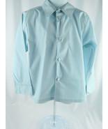 Little Boys Shirt Retro Little Boys Long Sleeve Light Blue Shirt Sz 6 - $2.98