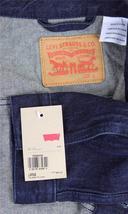 Levi's Men's Premium Cotton Button Up Denim Jeans Jacket Dark Blue 723350039 image 6