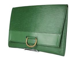 LOUIS VUITTON Jena Epi Leather Green Pochette Clutch Bag LP3944 - $296.10