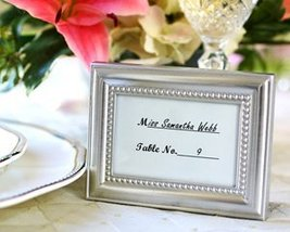 Placecard Holders Frame Beautifully Beaded (24 per order) Wedding Favors - $62.04