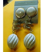 Ear Rings -White and Gold- Pierced Ears - $2.95