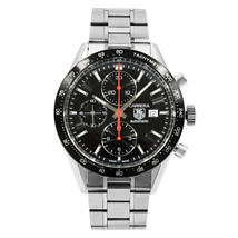 TAG Heuer Carrera Black Dial Tachymetre Steel Automatic Mens Watch CV201... - $2,449.00