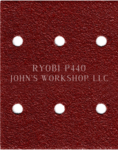 Build Your Own Bundle of RYOBI P440 1/4 Sheet No-Slip Sandpaper - 17 Grits! - $0.99