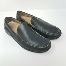 ECCO Mens Driving Loafers Black Leather Slip On Shoes Moccasins Sz 9-9.5... - $51.87