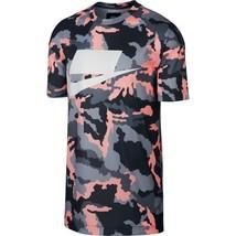 Nike Sportswear Nsw Mesh Tee Anthracite Storm Pink 928627 060 Us Mens Sz L - $48.99