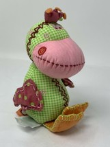 Kid's Preferred Dushi Bacladi Dunk the Duck Stuffed Animal Pink Green Ra... - $29.99