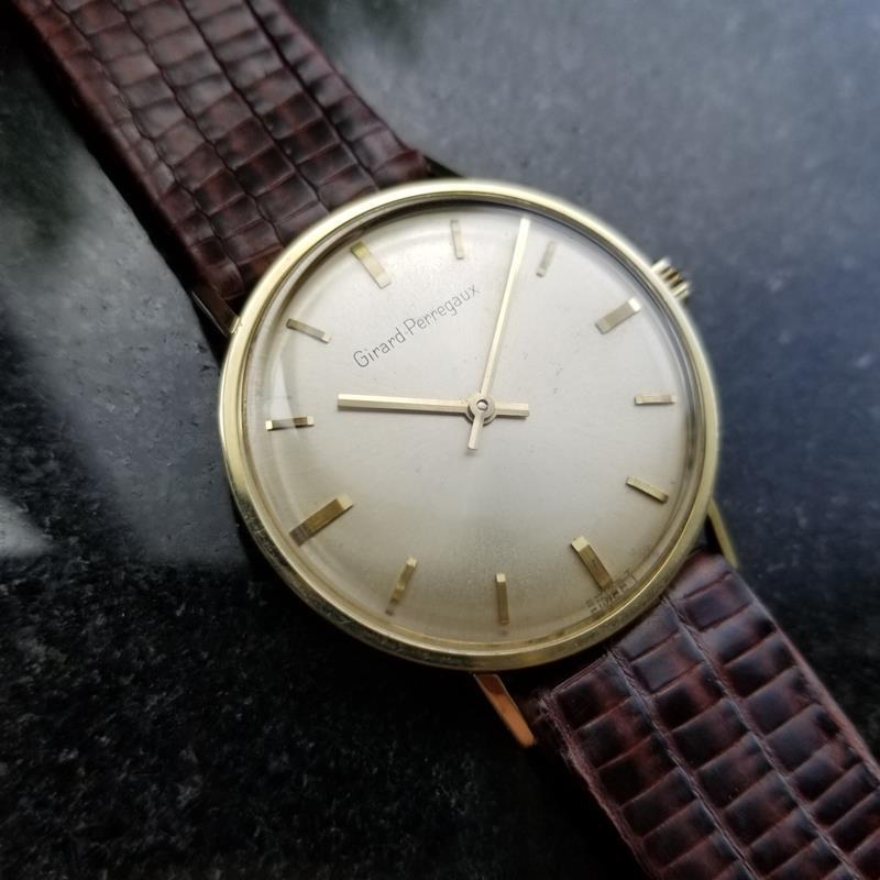 GIRARD-PERREGAUX Gold-Capped Men's Manual Hand-Wind Dress Watch c.1960s MS212 image 2