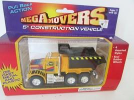 "DIECAST PLASTIC MEGA MOVERS 5"" CONSTRUCTION VEHICLE DUMP TRUCK 5"" MIB - $8.77"