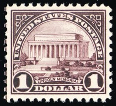 571, Mint XF NH $1 Lincoln Memorial Stamp - Stuart Katz - $80.00
