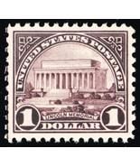 571, Mint XF NH $1 Lincoln Memorial Stamp - Stuart Katz - $80.00