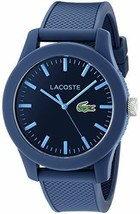 Lacoste Men's 2010765 Lacoste.12.12 Blue Resin Watch with Textured Silicone Band - $81.81