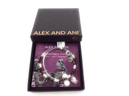 Alex and Ani Fortune's Favor Art Infusion Bracelet Set of 2 Shiny Silver NWTBC - $49.49