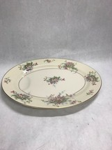 Vintage Theodore Haviland Apple Blossom 14 Inch Oval Juice Well Platter Plate - $21.49