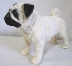 REALISTIC MINIATURE PUG DOG FIGURINE HAIR NOSE GLASS EYES - MALE DOG 7 1... - $150.00