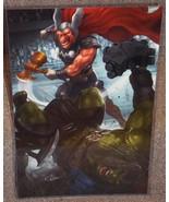 Beta Ray Bill vs Incredible Hulk Glossy Art Print 11 x 17 In Hard Plasti... - $24.99