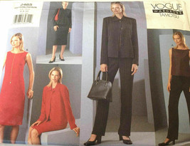 Vogue 2465 Tamotusu Jacket Dress Top Skirt Pants Size 6-10 Uncut Sewing ... - $26.43