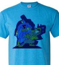 Blue Falcon T shirt Dynomut retro 80s Saturday morning cartoon heather blue tee image 1