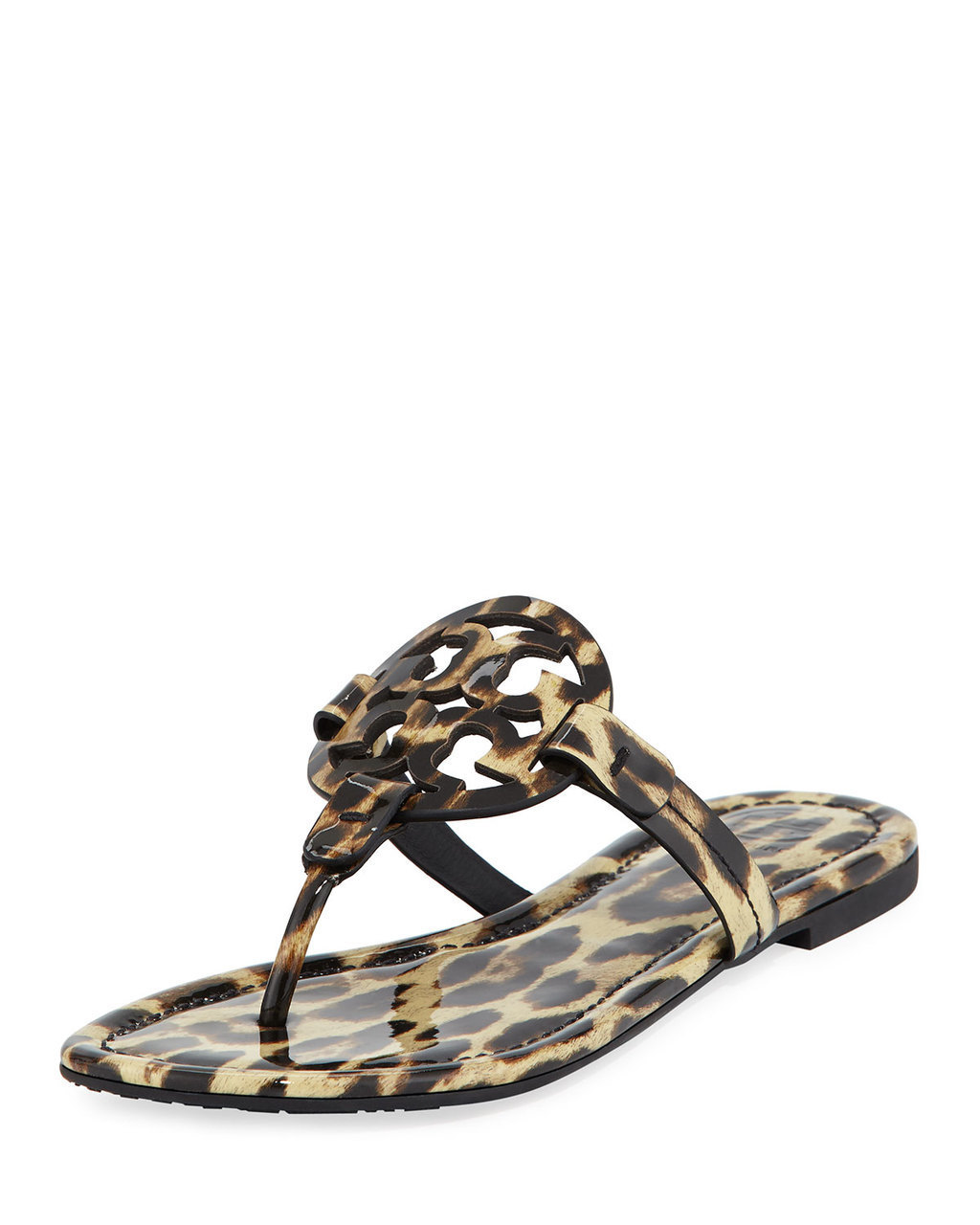 TORY BURCH MILLER PRINTED FLAT THONG SANDALS LEOPARD $175 FREE S&H - $175.00
