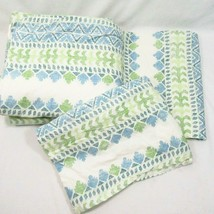 The Company Store Stripe Aqua Green 3-PC King Duvet Cover and Standard S... - $89.00