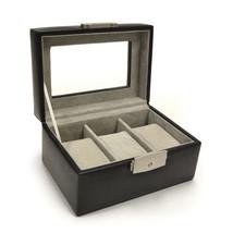 ROYCE LEATHER Luxury 3 Slot Watchbox Black 963-6 BLK - $49.95