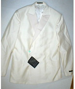 New NWT 54 Mens Suit Pants Jacket Blazer 44 Italy Valentino Cream White ... - $1,000.00