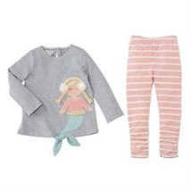 Mud Pie Baby Girl's Mermaid Tunic and Leggings Two-Piece Set Infant/Todd... - $39.25