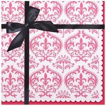 2-ply paper lunch napkin-Birthday Express Paris Eiffel Tower Damask Part... - $7.99