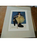 "Bally Shoes Fashion Advertising Poster by René Gruau Double Matted 16""x2... - $125.00"