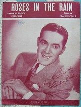 ROSES IN RAIN Al Frisch Fred Wise 1947 Sheet Music Frankie Carle Music &... - $5.99