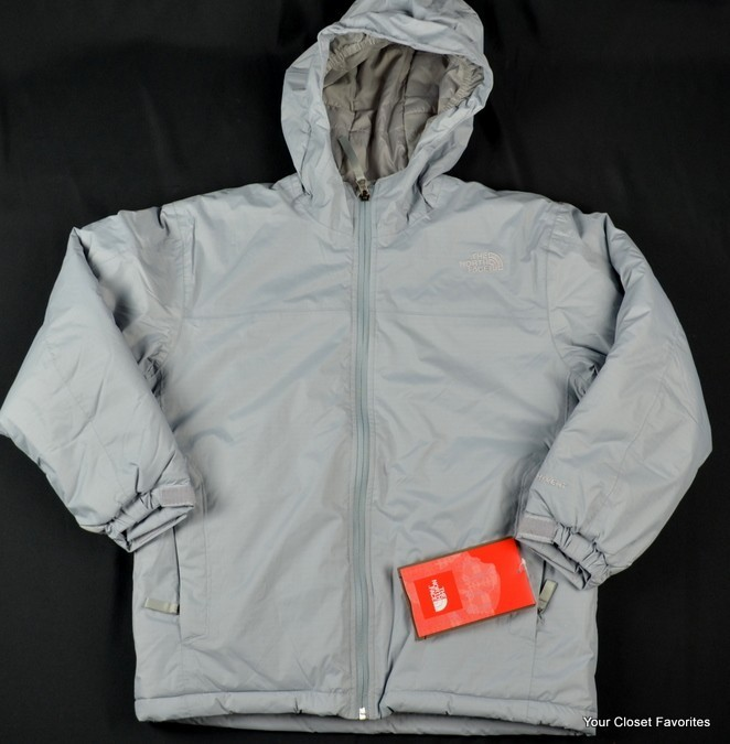 "New $275 THE NORTH FACE Jacket ""Rail Rider"" Boys M Medium 10/12 Gray Winter Coat"