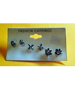 Set of 3 piers of pierced Ear Rings and Free Honey Bee Ring - $4.95