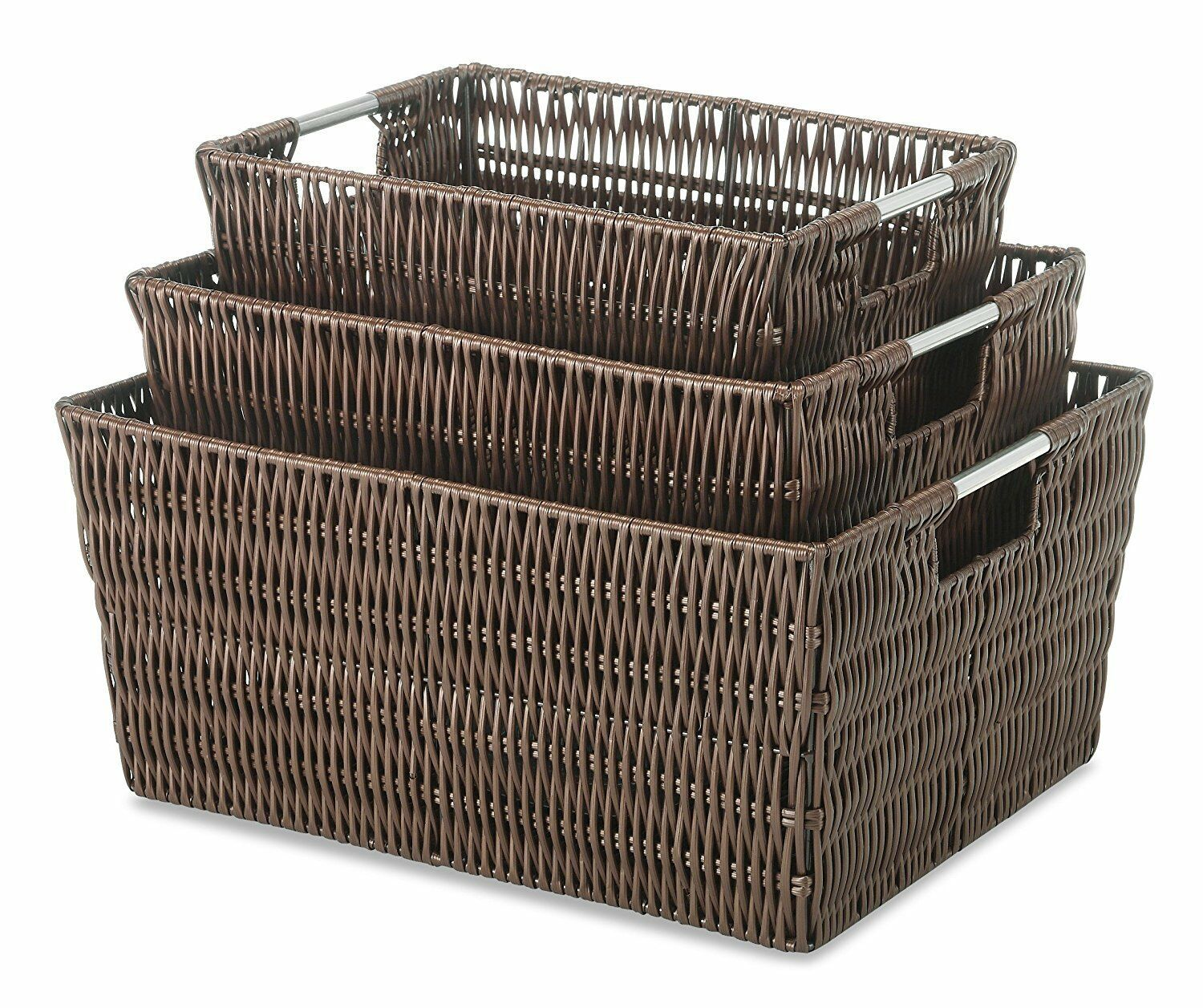 New Rattique Organizer Home Office Organization Bins Storage Baskets Closet