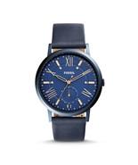 New Fossil Women Gazer Multifunction Blue Leather Watch ES4109 - $104.21