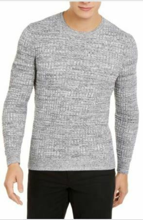 Tasso Elba Men's Sweater Gray Size 2XL Crewneck Pullover Basket Weave SEALED!