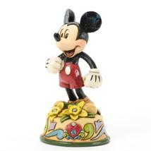 Enesco Jim Shore Disney MICKEY MOUSE Birthstone Flower March Aquamarine ... - $15.84