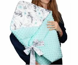 BABY BLANKET SWADDLE WRAP SLEEPING BAG NEWBORN INFANT MINKY COTTON MINT ... - $73.96