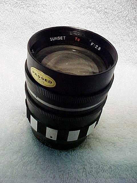 135mm Sunset T Mount Lens (some glass marks)