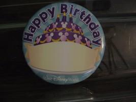 Disney Button Happy Birthday WDW Pin Mickey Mouse Cake Hidden Mickey New RETIRED - $12.19