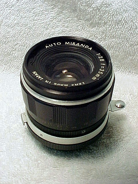 35mm f2.8 Auto Miranda Lens with Arm in a Case for Miranda