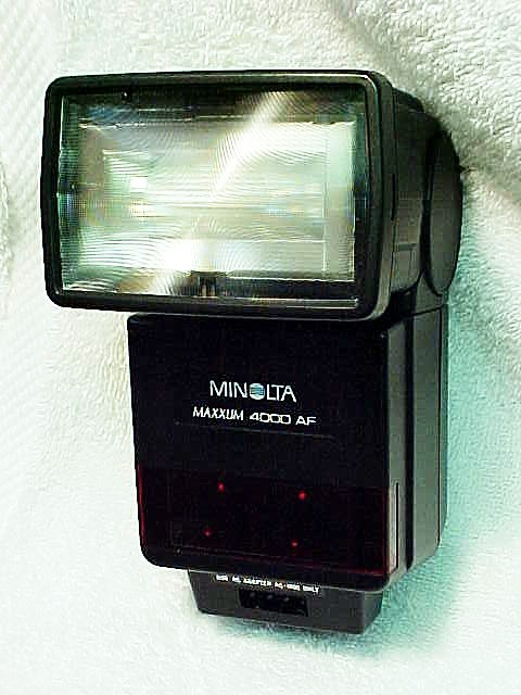 4000 AF Flash for Maxxum 7000/9000 (No 8)