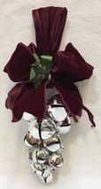 18 Jingle Bells Door Hanging in Grape Bunch Cluster Shape Varied Sizes R... - $14.84