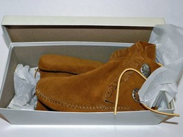 NIB! MINNETONKA Double Concho Button/Fringe Suede Moccasin/Ankle Boot - ... - $85.00