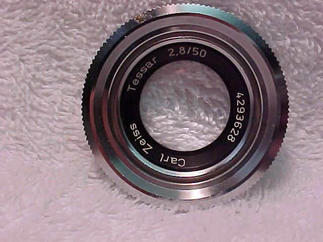 50mm f2 Zeiss Tessar Lens for Contaflex (clear coated glass)