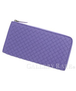 BOTTEGA VENETA Intrecciato Wallet Lamb Leather Purple 338137 Authentic 5... - $483.75